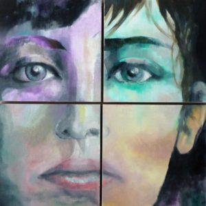 Ritratto pittorico contemporaneo Laura Beatrice Gerlini