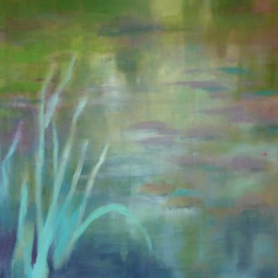 Iris smeraldo - olio su tela - 80x80 Disponibile