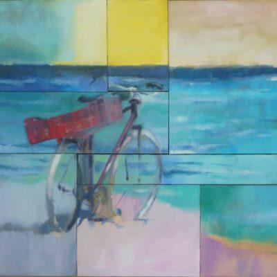Kelibia Beach, Tunisia. Mosaico - 8 tele olio su tela - 90x100 Coll. Privata