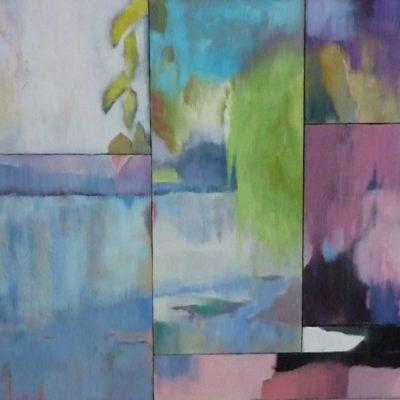 Lago di Como. Mosaico - 7 tele olio su tela - 90x100 Coll. Privata