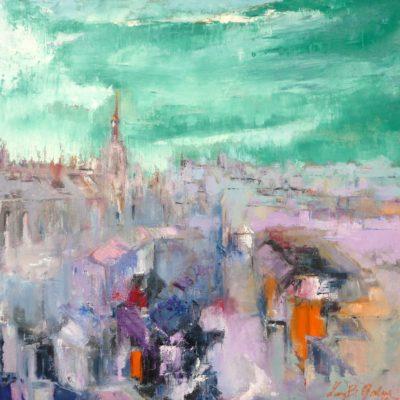 Milano - olio su tela - 70x70 Coll. Privata