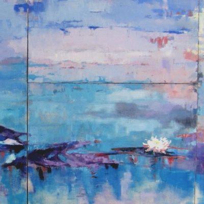 Rispetto - olio e acrilico su tela - 100 x 240  Coll. privata