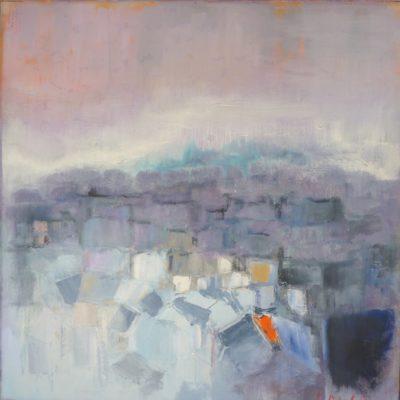 Tetti di Parigi - olio su tela - 60x60 Disponibile