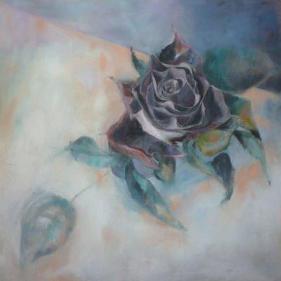 Rosa nera, olio su tela - 70x70 Coll. Privata