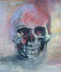 Skull teschio pittura
