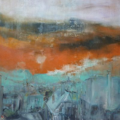 Tetti di Milano - olio su tela - 70x70 Coll. Privata