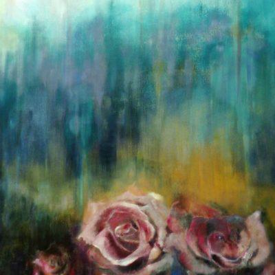 Una rosa è una rosa - olio su tela - 150x100 Disponibile